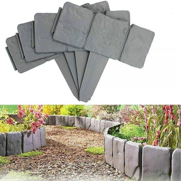buy plastic garden bed border