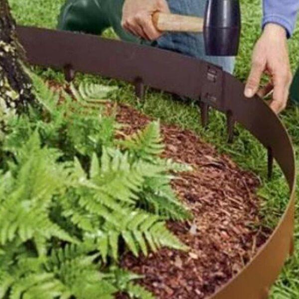 buy decorative steel garden bed edging online