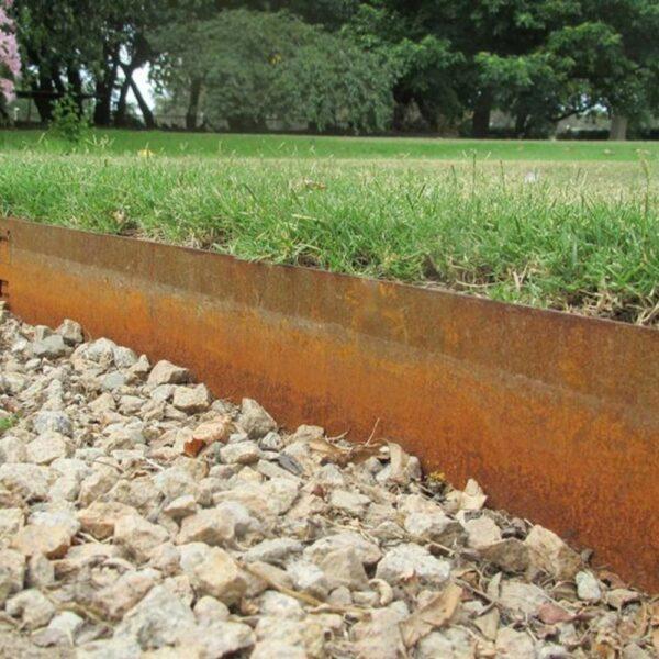 buy rusted metal path edging online