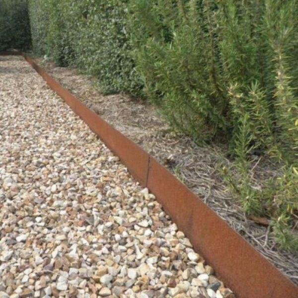 buy rusted steel garden edging online